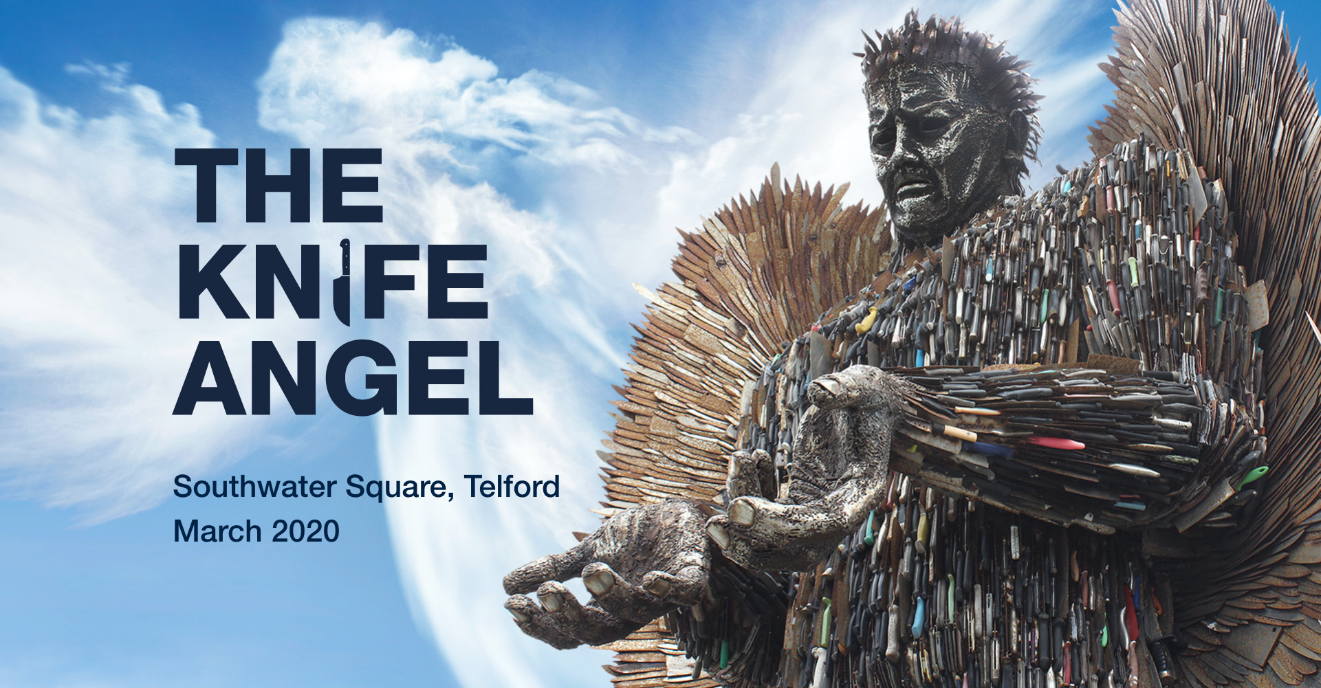 The Knife Angel Southwater Square, Telford March 2020